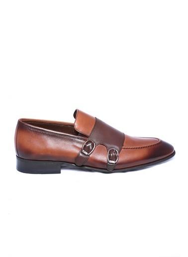 Wessi %100 Deri Çift Tokalı Ayakkabı Kahve